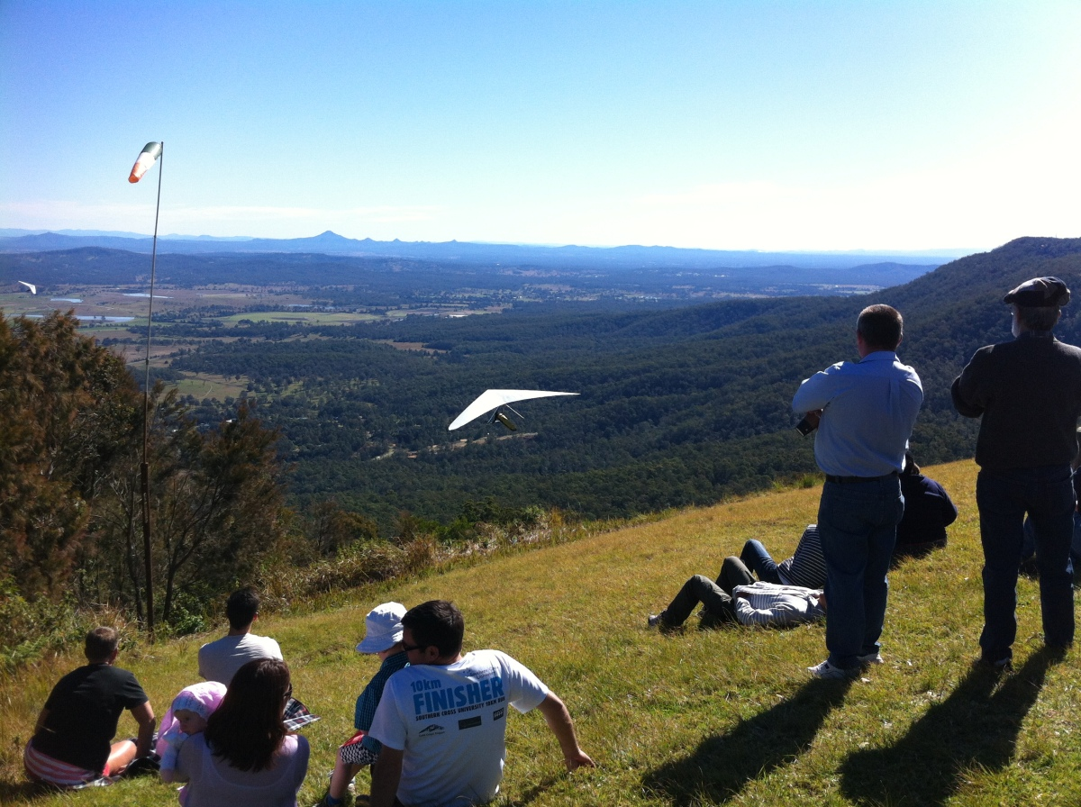 hang gliding off Mt Tambourne, Gold Coast