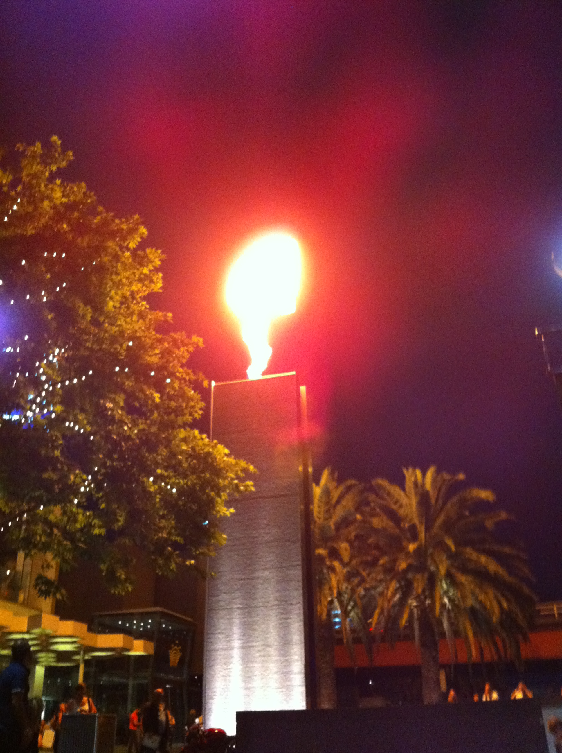 Flames outside crown casino