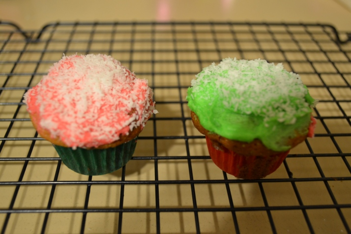 mini choc chip cupcakes