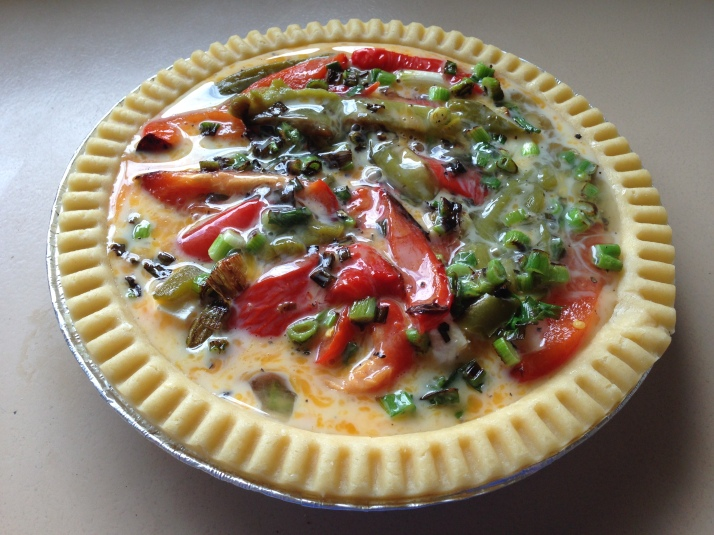 Capsicum and feta quiche