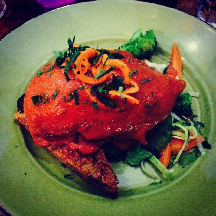 Red Salmon chicken envelope