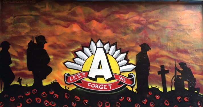Anzac day street art