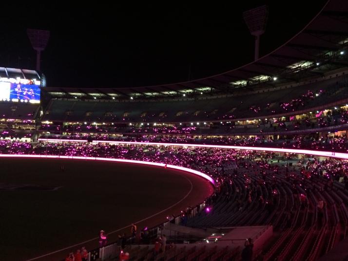 MCG turns pink 3